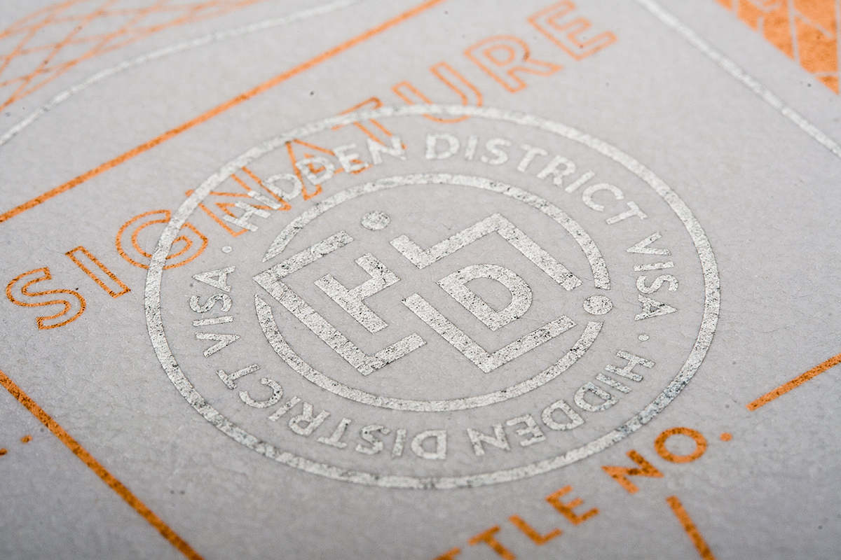 Hidden District, branding, packaging, vino